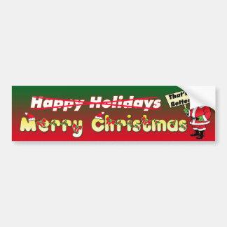 Felices Navidad - que es mejor - pegatina para el  Pegatina De Parachoque