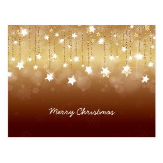 Felices Navidad que giran las estrellas 3 Tarjetas Postales