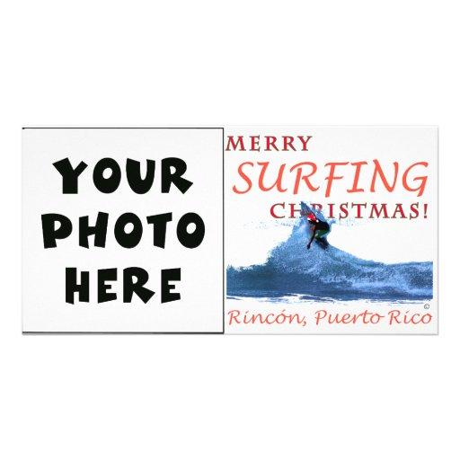 ¡Felices Navidad que practican surf! Tarjeta Personal