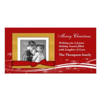 Felices Navidad que saludan Tarjeta Personal Con Foto