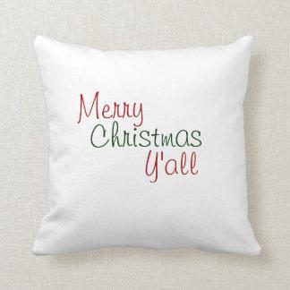 Felices Navidad que usted soporta Almohada