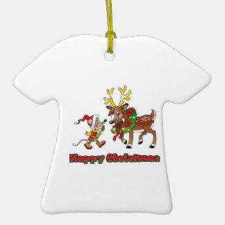 Felices Navidad ratón y ciervos Adorno Para Reyes