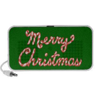 Felices Navidad rayadas del bastón de caramelo Altavoz De Viajar