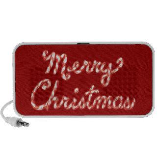 Felices Navidad rayadas del bastón de caramelo Portátil Altavoces
