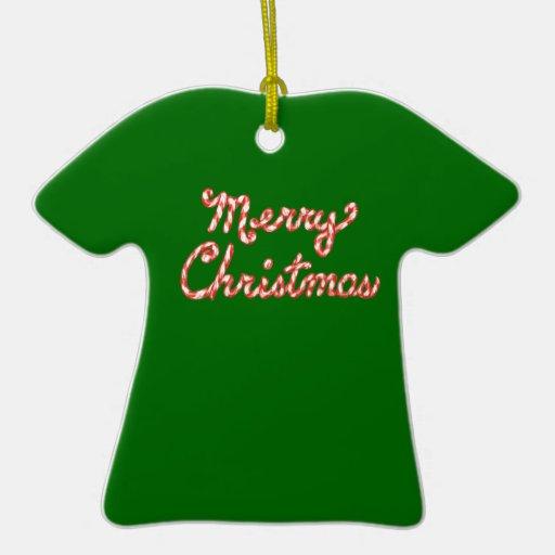 Felices Navidad rayadas del bastón de caramelo Ornatos
