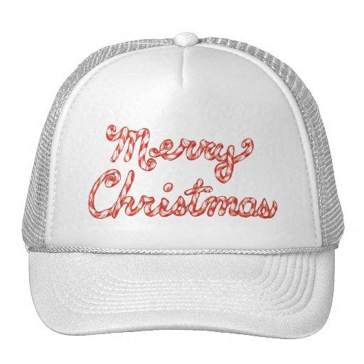 Felices Navidad rayadas del bastón de caramelo Gorras De Camionero