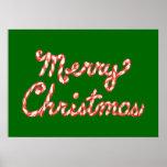 Felices Navidad rayadas del bastón de caramelo Impresiones