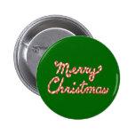 Felices Navidad rayadas del bastón de caramelo Pins