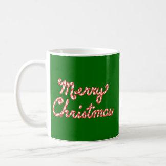 Felices Navidad rayadas del bastón de caramelo Tazas De Café