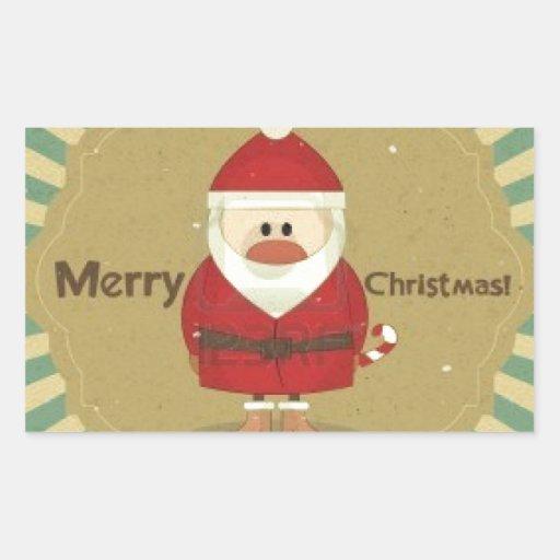 Felices Navidad Rectangular Pegatina