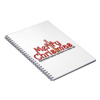 ¡Felices Navidad! ¡Recuerde! Libro De Apuntes Con Espiral