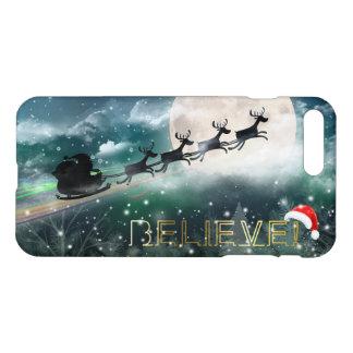 Felices Navidad - reno de medianoche del paseo de Funda Para iPhone 7 Plus