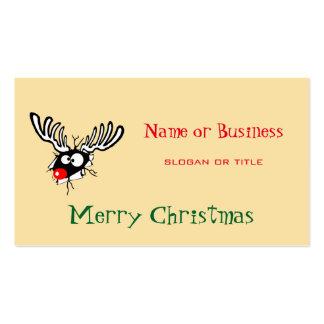 ¡Felices Navidad! Reno sospechado rojo loco Tarjetas De Visita