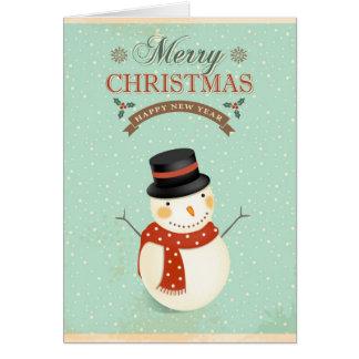 Felices Navidad retras de la Feliz Año Nuevo de Felicitaciones