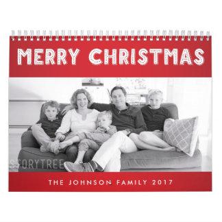 Felices Navidad rojas 2017 calendarios