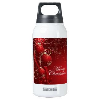Felices Navidad rojas Botella Isotérmica De Agua