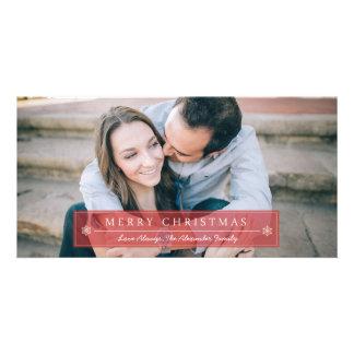 Felices Navidad rojas clásicas Tarjeta Personal