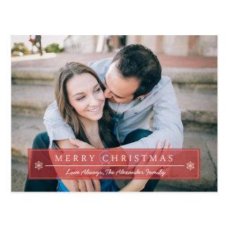 Felices Navidad rojas clásicas Tarjetas Postales