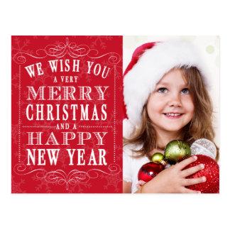 Felices Navidad rojas, foto de la Feliz Año Nuevo Postales