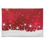 Felices Navidad rojas Nevado - Placemat Mantel