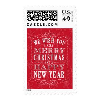 Felices Navidad rojas y Feliz Año Nuevo