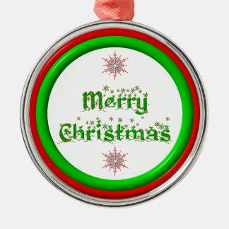 Felices Navidad - rojas y mirada tridimensional Ornamentos De Reyes Magos