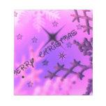 Felices Navidad, rosadas Bloc De Notas