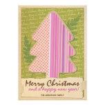 Felices Navidad rosadas de Papercraft