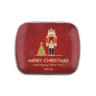 Felices Navidad - saludo del día de fiesta del cas Jarrones De Dulces