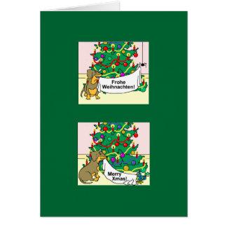 Felices Navidad saludos de las estaciones Frohe Felicitación