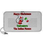 Felices Navidad Salvador el ratón italiano Notebook Altavoz