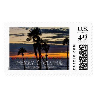 Felices Navidad - San Diego, California Franqueo