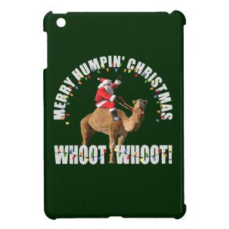 Felices Navidad Santa de Humpin y camello