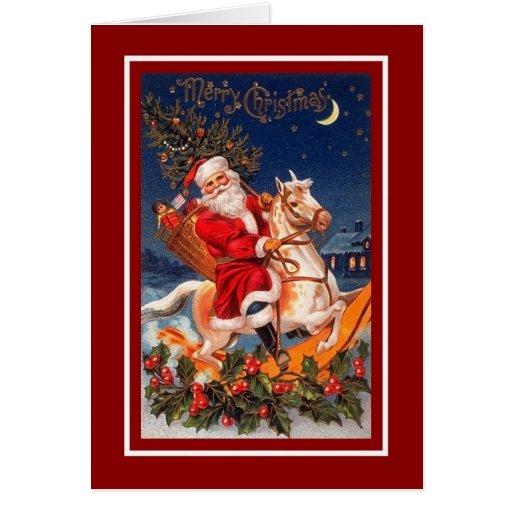 Felices Navidad Santa de la tarjeta de Navidad del