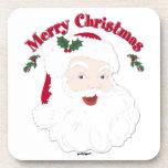 Felices Navidad Santa del vintage Posavaso