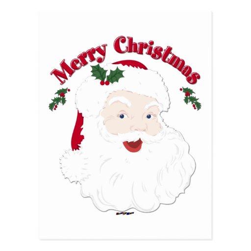 Felices Navidad Santa del vintage Tarjetas Postales