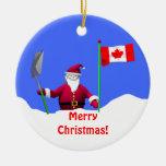 Felices Navidad Santa en Canadá Ornamento De Reyes Magos