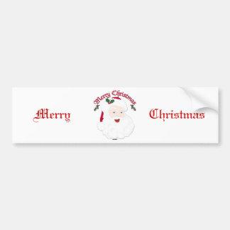 Felices Navidad Santa - escritura del vintage Pegatina Para Auto