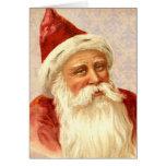 Felices Navidad Santa pasado de moda bondadoso del Tarjeta