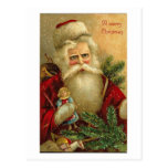 Felices Navidad Santa y tarjeta de la muñeca Tarjetas Postales