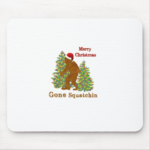 Felices Navidad Squatchin ido Mouse Pads