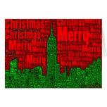 Felices Navidad: Tarjeta 002 del arte de la palabr