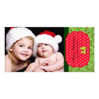 Felices Navidad Tarjeta Con Foto Personalizada