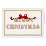 Felices Navidad, tarjeta de felicitación de las