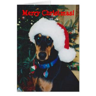 ¡Felices Navidad! Tarjeta de felicitación del Dobe