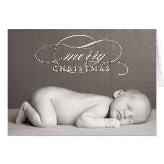 Felices Navidad - tarjeta de felicitación doblada