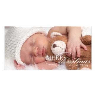 Felices Navidad - tarjeta de la foto de familia Tarjeta Con Foto Personalizada