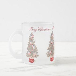 Felices Navidad Taza Cristal Mate