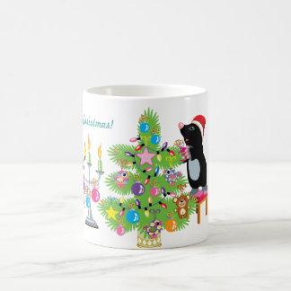 Felices Navidad Taza Básica Blanca