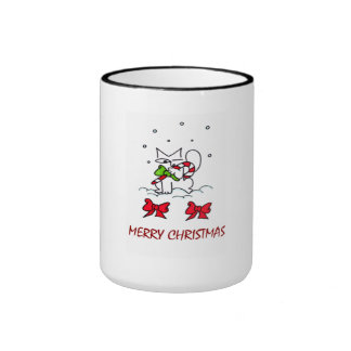 Felices Navidad Taza De Dos Colores